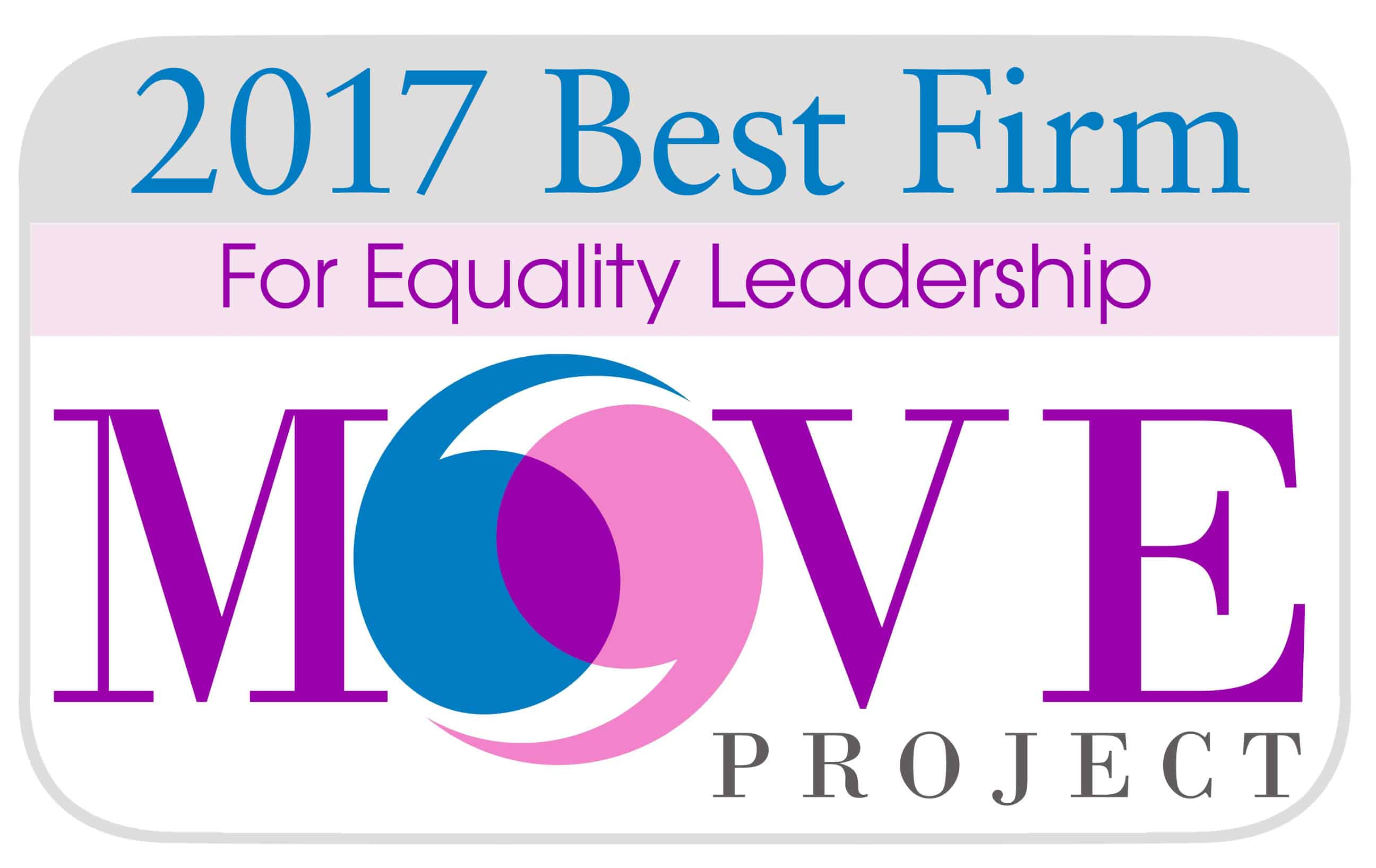 Accounting MOVE Project 2017 Best Firm for Equity Leadership
